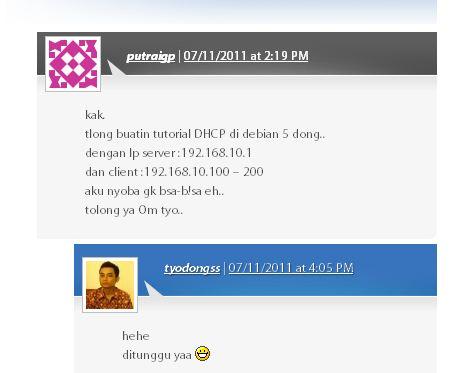 comment DHCP Server di Debian 5